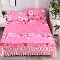Bed skirt Four piece 1.5m bed skirt (quilt cover 200x230), four piece 1.8m bed skirt (quilt cover 200x230), four piece 2.0m bed skirt (quilt cover 200x230), three piece 1.2m bed skirt (quilt cover 150x200) cotton Yonghao Plants and flowers Qualified products