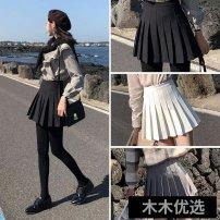 skirt Spring 2021 XS,S,M,L,XL,2XL Short skirt High waist A-line skirt Other / other Pleating