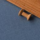 Fabric / fabric / handmade DIY fabric Used indigo linen