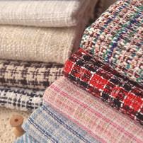 Fabric / fabric / handmade DIY fabric blending Loose shear piece Geometric pattern Yarn dyed weaving clothing Europe and America