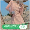 Dress Summer 2021 Pink cardigan, blue cardigan, pink suspender skirt, blue suspender skirt S. M, average size Short skirt Sleeveless commute Broken flowers camisole Korean version More than 95% other other