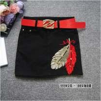 skirt Autumn of 2019 S,M,L,XL,2XL black Short skirt Versatile Natural waist skirt 18-24 years old