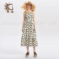 Dress Summer of 2019 S,M,L,XL,2XL 25-29 years old Women's wear in art field More than 95% cotton