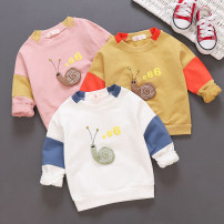 T-shirt Other / other 80cm,90cm,100cm,110cm neutral spring and autumn Long sleeves Crew neck Korean version No model nothing cotton Cartoon animation Cotton 95% polyurethane elastic fiber (spandex) 5% Class B Sweat absorption 6 months , 9 months , 18 months , 2 years old , 3 years old , 4 years old