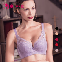 Bras Orange, ivory, grey, violet, deep pink, scarlet, black 70B70C75B75C75D75E80B80C80D80E85B85C85D85E90B90C90D90E Fixed shoulder strap Rear four row buckle There are steel rings 3/4 U-shaped Oleno / orignon Young women Gather together Thin cotton cup Cotton pad Plants and flowers Simplicity lesbian