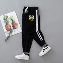 trousers Other / other neutral 90cm,100cm,110cm,120cm,130cm Black, black, black spring and autumn trousers leisure time No model Casual pants Leather belt middle-waisted blending Don't open the crotch Cotton 50% other 50% SC