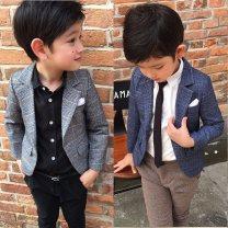 Suit / Blazer Light gray, peacock blue, light gray suit + black casual pants + black shirt, blue suit + khaki pants + white shirt + tie, light gray suit + black casual pants, blue suit + Khaki casual pants 7 / 100, 9 / 110, 11 / 115, 13 / 120, 15 / 130, 17 / 140 Other / other male Korean version