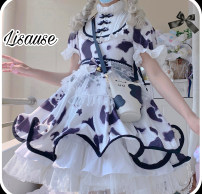 Dress Summer 2021 Op / final payment 205, Op bottom ordinary / final payment 190, small object supplement go to the page jump shot, Op full payment is scheduled to ship in mid May S. M, l, little thing Mid length dress other Long sleeves Sweet Lotus leaf collar High waist Decor Single breasted Others