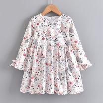 Dress female Other / other 100cm,110cm,120cm,130cm,140cm Cotton 100% spring and autumn Korean version Long sleeves Broken flowers Pure cotton (100% cotton content) A-line skirt Class B 2, 3, 4, 5, 6, 7, 8, 9, 10 years old