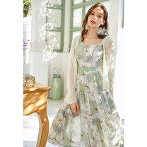 Dress Summer 2020 flower S M L Mid length dress singleton  Sleeveless commute square neck middle-waisted Socket other camisole 25-29 years old Type X Artka More than 95% other Other 100%