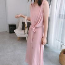 Dress Summer 2020 Fog green, fog pink, fog green suspender skirt, no chiffon vest 34,36,38,40,42,44 DEAR JANE'S COLLECTION