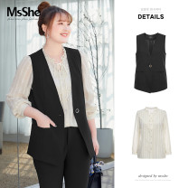Women's large Spring 2021 XL 2XL 3XL 4XL 5XL 6XL shirt singleton  commute easy thin Cardigan Broken flowers lady V-neck routine polyester fiber MS she / mu Shan Shiyi 25-29 years old Button 96% and above Polyester 100% Pure e-commerce (online only)