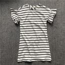Dress White background, black stripe, defect female Other / other Yibiao 5-6, Yibiao 7-8, Yibiao 9-10, Yibiao 11-12, Yibiao 13-14 Cotton 100% summer Solid color Pure cotton (100% cotton content) other 9, 10, 11, 12, 13, 14, 7, 8, 5, 6