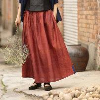 skirt Summer of 2019 Xs, s, m, l, XL, XS * pre-sale non refundable, s * pre-sale, m * pre-sale, L * pre-sale, XL * pre-sale Black, crispy longuette commute Natural waist A-line skirt Type A 35-39 years old More than 95% Ji Xiangyu silk Sticking cloth literature