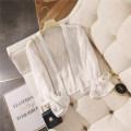 Lace / Chiffon Summer 2020 Pink, white Average size Long sleeves Versatile Cardigan Regular