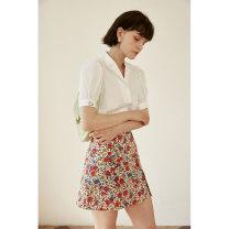 skirt Summer 2021 XS,S,M,L Decor Short skirt commute High waist A-line skirt Decor Type A 25-29 years old HBQA214 More than 95% other HeyDress cotton Asymmetric, zipper, open line decoration, printing Simplicity