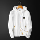 Jacket Other / other Youth fashion White, black M,L,XL,2XL,3XL,4XL routine Self cultivation Other leisure spring Long sleeves Wear out Hood tide youth routine Zipper placket 2021 washing Closing sleeve Side seam pocket