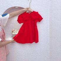 T-shirt 0-3 neutral Cartoon cotton Cartoon animation 12 months gules 100cm,110cm,120cm,130cm,140cm