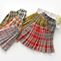 skirt 90cm,100cm,110cm,120cm,130cm Black, red, pink Little shine house female Cotton 85% others 15% spring and autumn skirt Korean version lattice Pleats cotton b8228 Class B