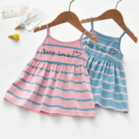 Vest sling Orange, purple, pink stripes, blue stripes camisole 90,100,110,120,130 summer Little shine house female No model Korean version nothing Other 100% Class B 12 months, 18 months, 2 years old, 3 years old, 4 years old, 5 years old, 6 years old