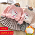 suit Little shine house PINK SEQUIN Kitty suit, apricot Sequin Kitty suit 100cm,110cm,120cm,130cm,140cm female winter Korean version Long sleeve + skirt 2 pieces Plush No model Socket nothing Cartoon animation cotton children Expression of love a8383 Class B Cotton 80% other 20% Chinese Mainland