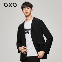 man 's suit black GXG Business gentleman routine 165/S 170/M 175/L 180/XL 185/XXL 190/XXXL GY101551E Polyester 100% Autumn of 2019 standard Double breasted go to work No slits Same model in shopping mall (sold online and offline) youth Long sleeves autumn routine Youthful vigor Casual clothes other