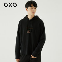 Sweater Youth fashion GXG Black black-B black plush-c black-d black-e 165/S 170/M 175/L 180/XL 185/XXL other Socket routine Hood winter easy leisure time youth Basic public routine GA131179E Terry cloth Cotton 82.6% polyester 17.4% other Autumn of 2018 Japanese and Korean style