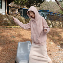 Sweater / sweater Autumn of 2019 Dark grey, pink, beige Average size Long sleeves have cash less than that is registered in the accounts Socket singleton  routine Hood easy commute other 96% and above Korean version cotton cotton Intradermal bile duct