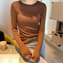 Wool knitwear Spring 2021 Average size Long sleeves singleton  Socket wool 31% (inclusive) - 50% (inclusive) Regular routine commute Self cultivation Solid color Socket Korean version