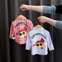 shirt Bella female 80cm,90cm,100cm,110cm,120cm,130cm All seasons Long sleeves leisure time lattice other