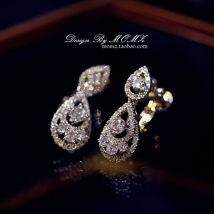 Ear clip Less than 100 yuan Zhao Zhao Silver earpin silver earclip brand new Japan and South Korea female goods in stock Alloy / silver / gold Fresh out of the oven Alloy inlaid artificial gem / semi gem other