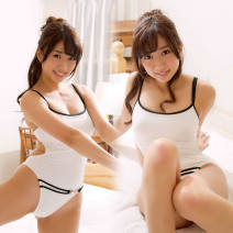 one piece  Temptation of desire Average size white Triangle one piece swimsuit No steel support, no chest pad other