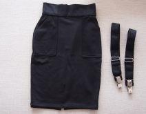 skirt Spring 2016 Average size black Middle-skirt grace High waist Strapless skirt Solid color other