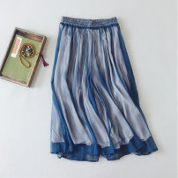 Casual pants Navy, light green, white, black Average size Spring of 2019 Ninth pants Wide leg pants High waist commute Thin money 25-29 years old 51% (inclusive) - 70% (inclusive) BY40 Other / other other Retro polyester fiber