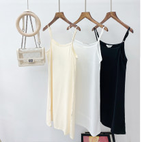 Vest sling Spring 2021 Black, white, apricot L,XL,2XL,3XL,4XL singleton  Medium length Straight cylinder other camisole Solid color 18-24 years old other H4181 Other / other