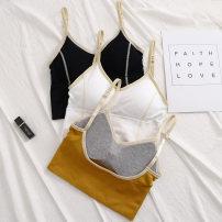 Vest sling Summer 2020 M, L Two piece set Medium length Self cultivation Original design camisole Solid color Other / other backless