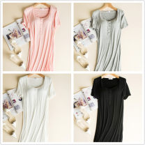 Nightdress Other / other L.,M.,XXL.,XL sexy camisole Leisure home longuette summer Solid color cotton More than 95% Modal fabric
