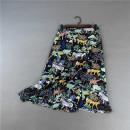 skirt Summer 2021 S,M,L,XL Animal print (skirt) Mid length dress Sweet High waist A-line skirt Decor Type A