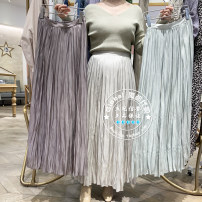 skirt Spring 2021 One hundred and fifty, one hundred and fifty longuette commute High waist Pleated skirt Solid color Type A 25-29 years old 30% and below Chiffon SNIDEL other fold lady 401g / m ^ 2 (inclusive) - 500g / m ^ 2 (inclusive)