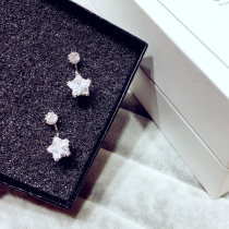 Ear Studs Alloy / silver / gold RMB 25-29.99 Other / other silvery brand new Japan and South Korea female goods in stock Fresh out of the oven Alloy inlaid artificial gem / semi gem Stars / sun / Moon / clouds / universe