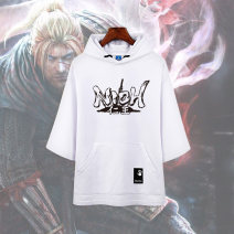 Cartoon T-shirt / Shoes / clothing RenWang nioh T-shirt Over 14 years old goods in stock Hooded 7-point-sleeve Black 2, hooded 7-point-sleeve White 2, hooded 7-point-sleeve Black 1, hooded 7-point-sleeve white 1 XXXL,XXL,XL,L,M,S Autumn, spring Chinese Mainland currency Simple, leisure cotton