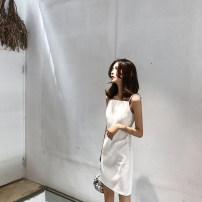 Dress / evening wear Wedding, adulthood, party, company annual meeting, performance, routine, appointment XS (spot), s (spot), m (spot), l (3 days) white Korean version Short skirt Spring 2021 Sling type zipper spandex NB-1443 Sleeveless Solid color XIAOQSTUDIO