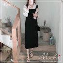 Fashion suit Autumn 2020 S,M,L,XL White shirt, black strap skirt 18-25 years old 3212+3213#
