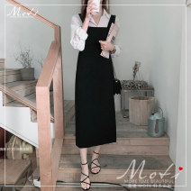 Fashion suit Autumn 2020 S,M,L,XL White shirt, black strap skirt 18-25 years old 3212+3213#