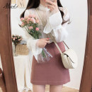 skirt Summer of 2019 S,M,L,XL Red bean paste Short skirt Sweet Natural waist A-line skirt Type A 18-24 years old 31% (inclusive) - 50% (inclusive) Other / other nylon