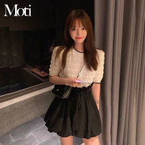 Fashion suit Summer 2021 S,M,L,XL Top, pleated skirt 18-25 years old