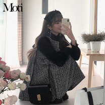 Fashion suit Spring 2021 S,M,L,XL Black vest skirt, black undershirt, white undershirt 18-25 years old 3288#