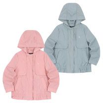 Plain coat Other / other female 110cm,120cm,130cm,145cm,155cm,165cm Pink, light blue summer leisure time Zipper shirt No model routine Detachable cap Solid color cotton Crew neck Cotton 100%