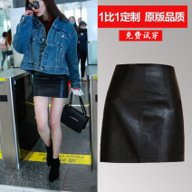 skirt Autumn of 2019 XS,S,M,L,XL Gold, silver, black Short skirt sexy High waist skirt Solid color Type A 25-29 years old YXQ18533 81% (inclusive) - 90% (inclusive) brocade Excellent sleeve PU Zipper, open line decoration 301g / m ^ 2 (including) - 350g / m ^ 2 (including)