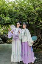 Custom made Hanfu Light purple embroidered jacket piece, white embroidered jacket piece, purple embroidered skirt, white embroidered skirt M. S, l, XL, XXL, others female Midnight Song Hanfu